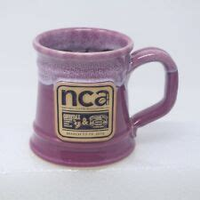 Ad from the national coffee association 1984. National Coffee Association nca '16 Coffeetalk Purple Handmade Stoneware Mug Cup   eBay