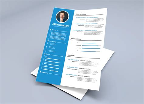 resume template  illustrator ai word docx format