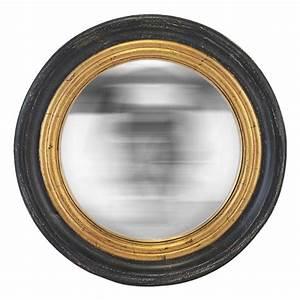 Miroir Rond à Suspendre : miroir rond convexe noir et or ~ Teatrodelosmanantiales.com Idées de Décoration