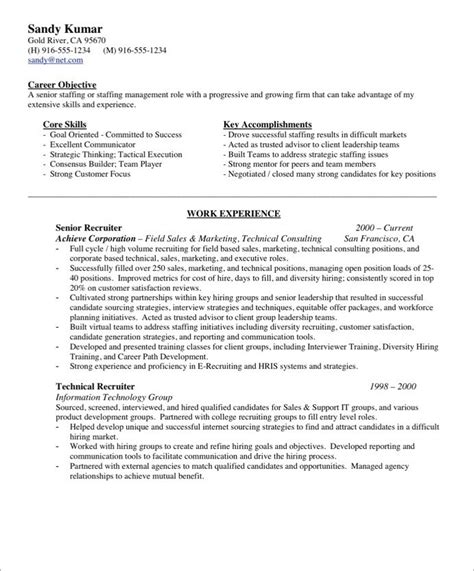 recruiting manager resume the best letter sle