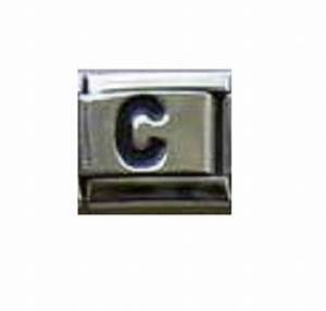 black letter c italian charm fits nomination bracelets With nomination bracelet letter charms