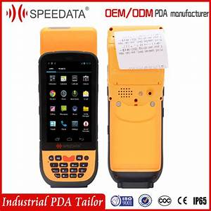 4g lte mobile handheld data terminal with printer for With portable invoice machine