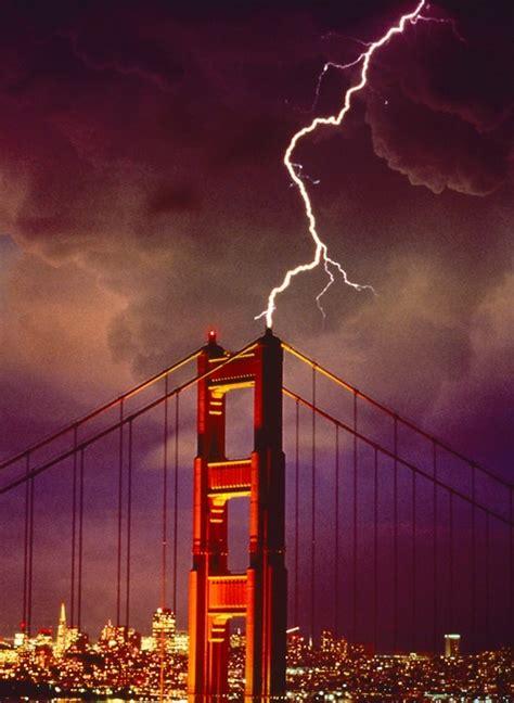 Lightning Striking Golden Gate Bridge