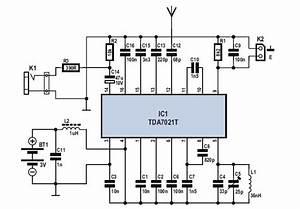 Schematic  U0026 Wiring Diagram  Mini Fm Receiver Circuit Diagram