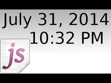 display change time date javascript youtube