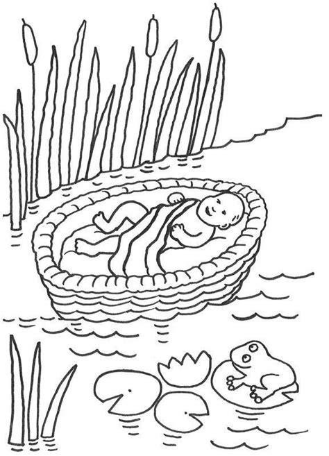 kostenlose malvorlage szenen aus der bibel moses im korb