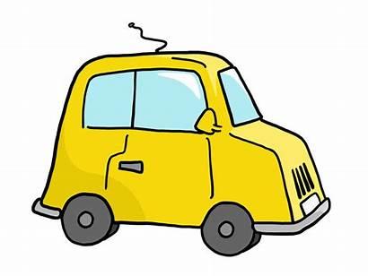 Clipart Clip Yellow Funny Cars Cartoon Bean