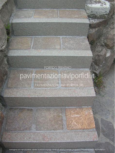 piastrelle porfido per esterni scale e gradini di porfido