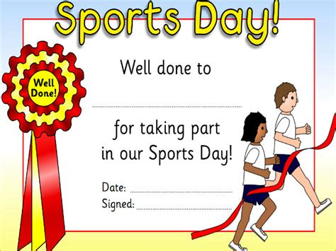 Sports Day Certificate Templates Free by 9 Sports Award Templates Free Premium Templates