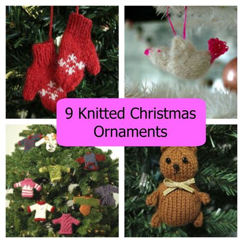 knitted christmas ornaments allfreechristmascraftscom