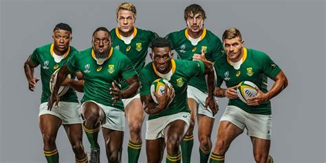 pictures springboks unveil sleek rugby world cup  jersey