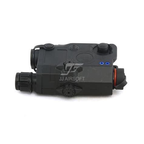 Peq 15 La 5 Battery Case With Green Laser Black Jj Airsoft