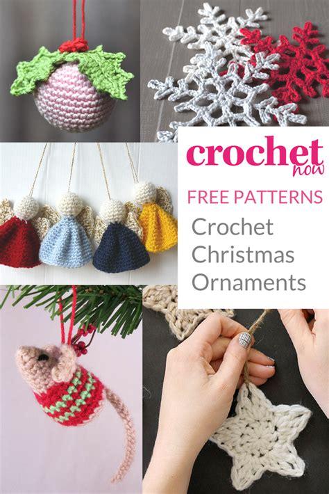 crochet christmas ornament patterns crochet
