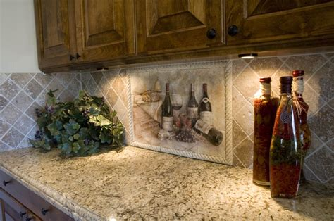 mural tiles for kitchen decor parisian wine kitchen d 233 cor with lighting and writing 7052