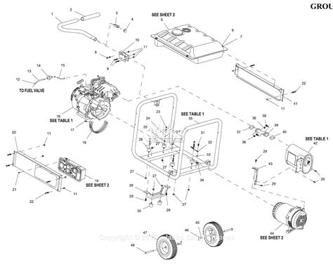 Generac Gpe Parts Diagram For Full Assembly