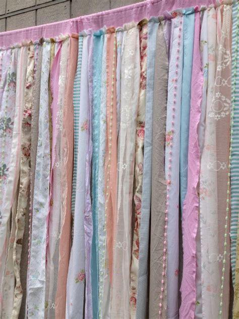 shower curtain shabby rustic chic boho fabric