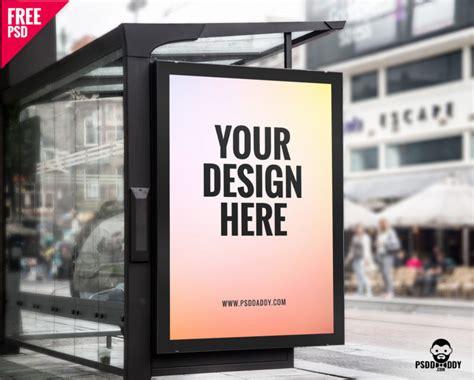 bus stop poster psd template download bus stop branding mockup psd psddaddy