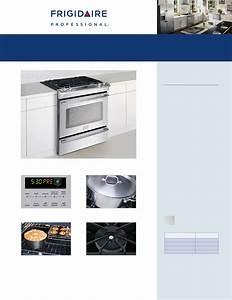 Frigidaire Stove Fpgs3085k F User Guide