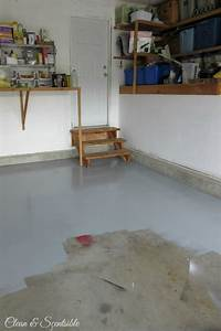 How to paint a garage floor clean and scentsible for How to clean painted garage floor
