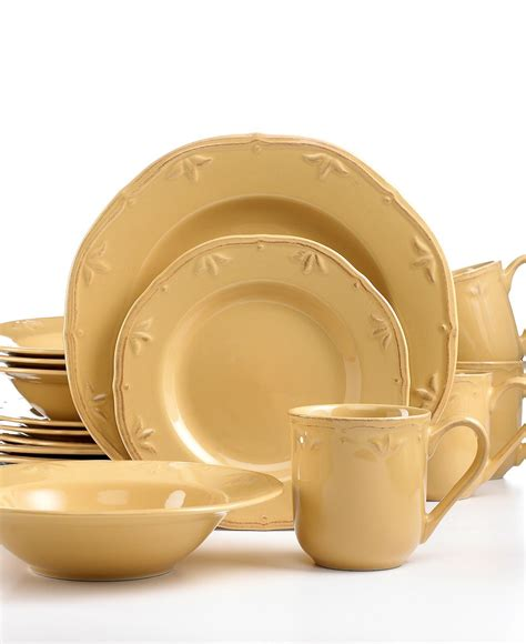 dinnerware thomson pottery casual macy caramel sicily piece sets pc entertaining dining french visit service country
