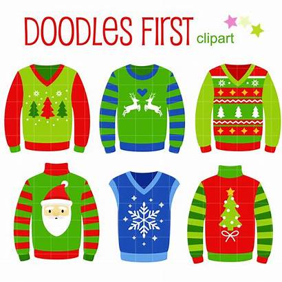Ugly Sweater Clip Christmas Clipart Sweaters Voting