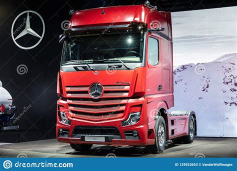mercedes actros  sleeper truck editorial stock