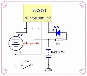2019 Latest Yx8181 Led Solar Lawn Lamp Driver Ic Yx8181