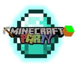 Minecraft Party Logo