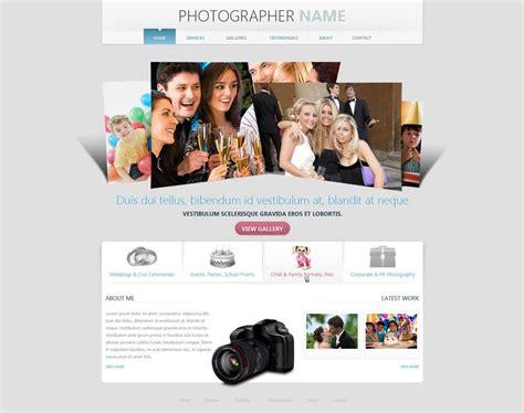 photographer website template  photography web