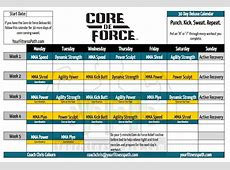 Core de Force Workout Calendar Your Fitness Path