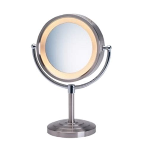 table top mirror with lights jerdon first class 5x lighted table top mirror chrome no