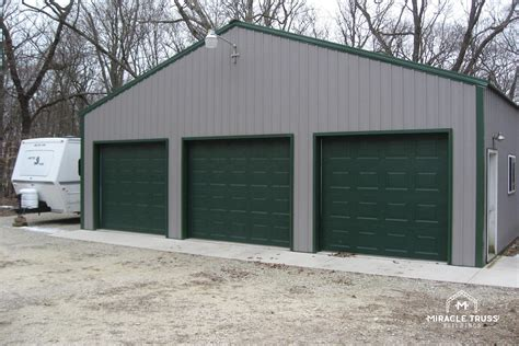 diy metal garage easy assemble diy metal garage or shop miracle truss