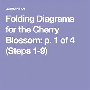 Folding Diagrams For The Cherry Blossom  P  1 Of 4  Steps