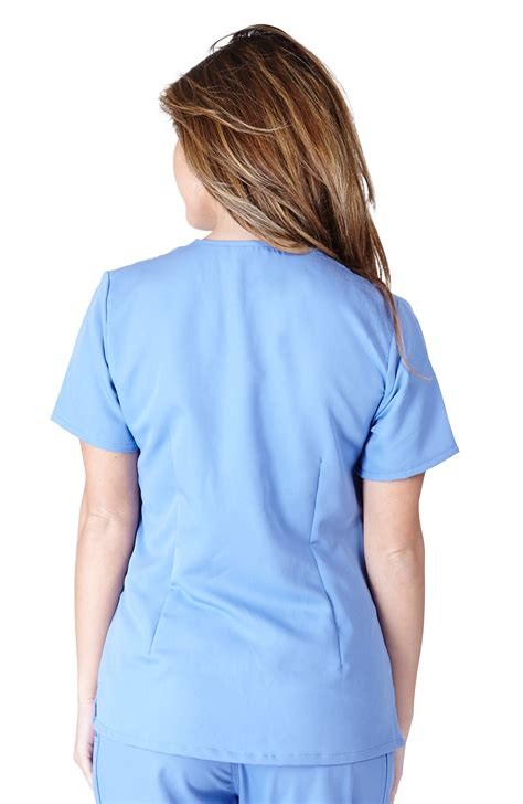 ceil blue scrubs womens ultra soft scrubs womens three pocket scrub top ceil