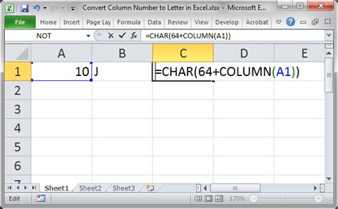 Letter Exle by Convert Column Number To Letter Using A Formula In Excel