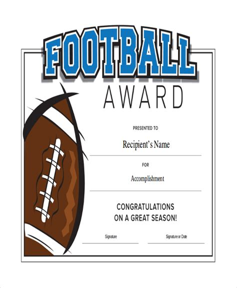 Football Certificate Templates by 43 Sle Certificates Sle Templates