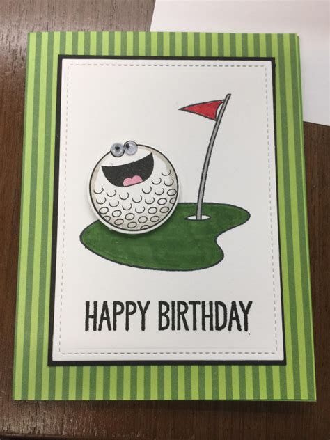 golf birthday card  bhappystamper  splitcoaststampers