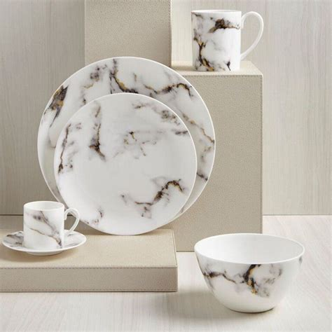marble dinner plates grey gold marble dinner plate set of 4 4003