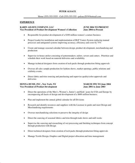 Free Resume Writing Course by Fashion Executive Free Resume Sles Blue Sky Resumes
