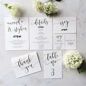 modern calligraphy wedding invitation suite in etsy shop With wedding invitation etsy shops