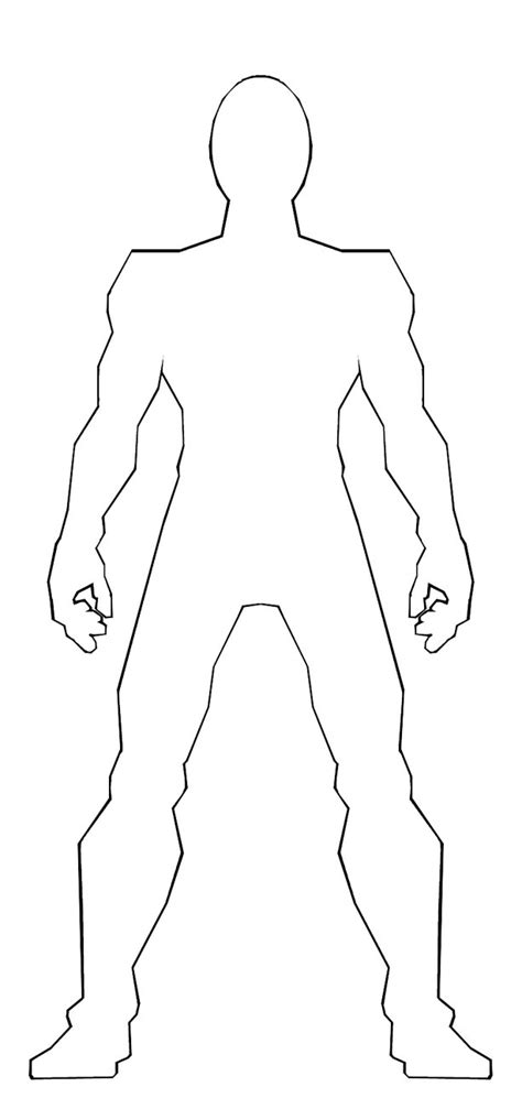 body templates  drawing clipart