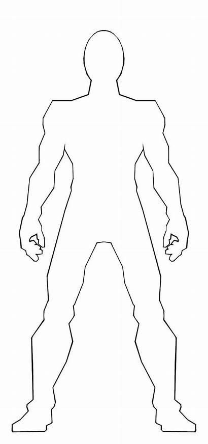 Template Male Outline Anime Ss209 Clipart Sketch