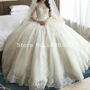 luxury cathedral train ball gown wedding dresses 2016 lace With ball gown wedding dresses 2016