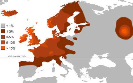 What Percent Of The World Has Hair And Blue by Which Part Of Europe Has Largest Percentage Of