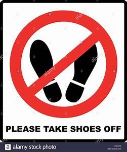 Hier Auf Englisch : bitte schuhe ausziehen treten sie nicht hier bitte zeichen vektor illustration rot verbot ~ A.2002-acura-tl-radio.info Haus und Dekorationen