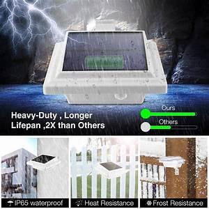 Solar Dachrinnen Leuchten : 4x 25leds solarlampe dachrinnen leuchten mit 3 7v 1800mah batterie aussenleuchte ebay ~ Eleganceandgraceweddings.com Haus und Dekorationen