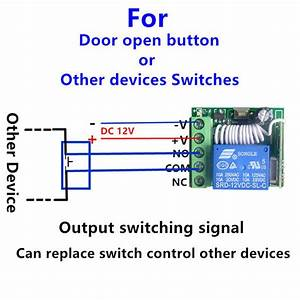 Dc 12v Wireless Rf Remote Control Switch Momentary Delay Time Turn On  Off Module