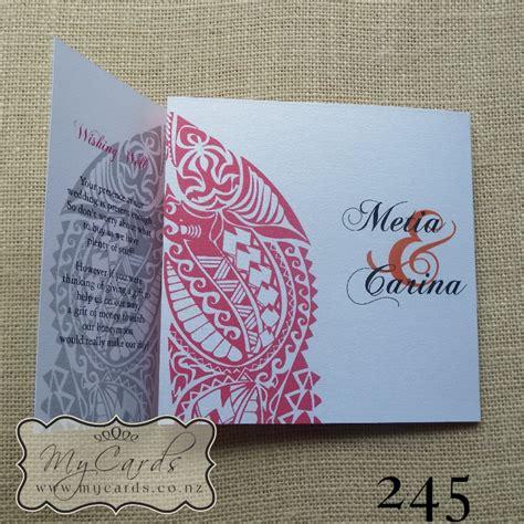 Maori Wedding Invitation 140mm Letterfold