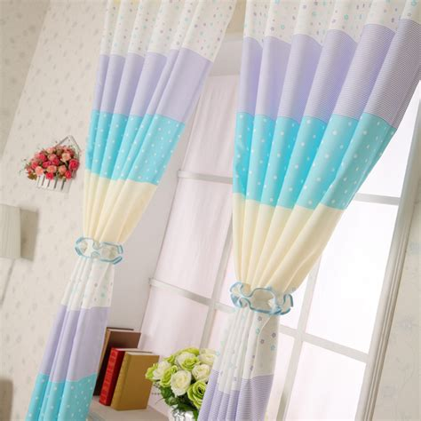Cheap Bluepurple Polka Dot Curtains For Kids Room