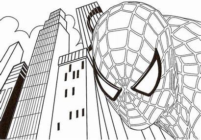 Spiderman Superhero Coloring Marvel Pages Printable Everfreecoloring